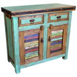 Rustic Painted Wood Buffets Hutches
