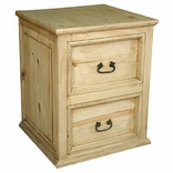 Rustic Pine 2 Drawer File Cabinet