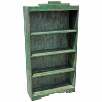 Rustic Santa Fe Open Bookcase - Green