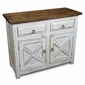 Rustic White Washed Barn Door Buffet