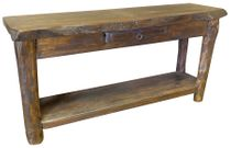 Rustic Wood Live Edge Sofa Table