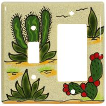 Talavera Switch and Rocker Cover - Cactus