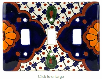 Triple Toggle Talavera Switchplates