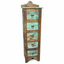 Two-Tone Rustic Painted Wood Lingerie Dresser - 5 Drawer