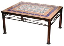 Wrought Iron Coffee Table with Tile Top - Small