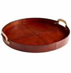 20 Inch Bryant Tan Tray by Cyan Design