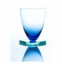 Abigails Blue Stemless Wine with Square base (Set of 4)