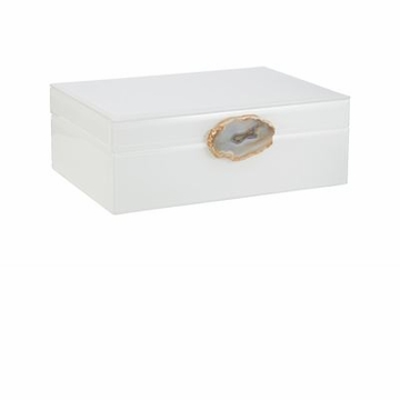 Abigails White Box with Agate