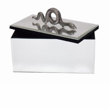 Abigails Mirrored Box with Snake Embellishment
