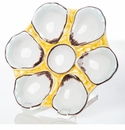Abigails Canary Yellow Oyster Plate (Set of 2)