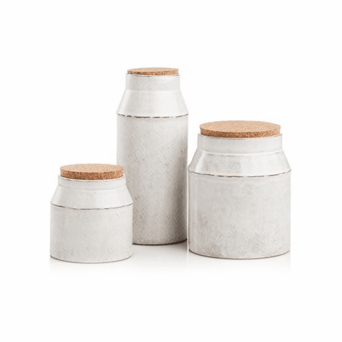 Abigails Cantina Canister Set of 3 with Cork Lids