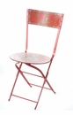 Abigails Chair Folding Garden Red Painted