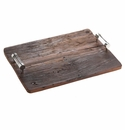 Abigails Chalet Reclaimed Wood Tray Mahogany Finish