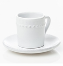 Abigails Charlot Cup & Saucer (Set of 4)