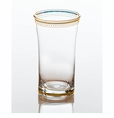 Abigails Clear Glass with Gold Trim (Set of 4)