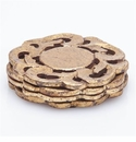 Abigails Gold Coasters (Set of 8)