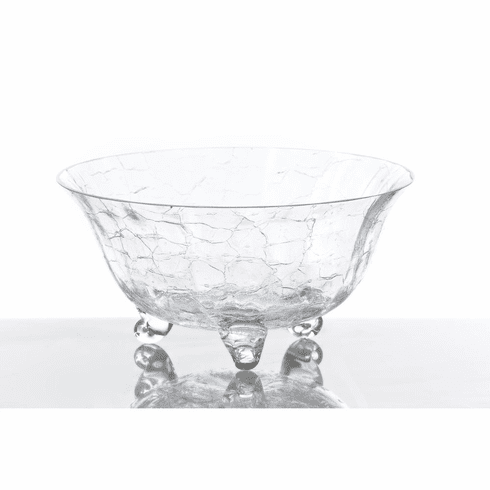 Abigails Crackle Footed Salad Bowl