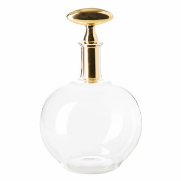 Abigails Chalet Small Decanter with Brass Stopper