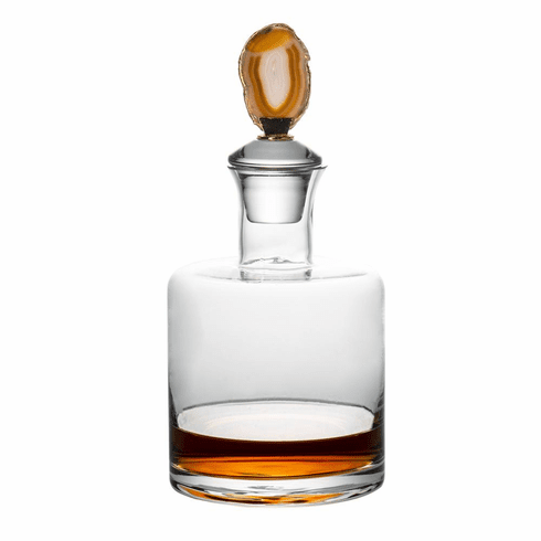 Abigails Decanter with Brown Agate Stopper
