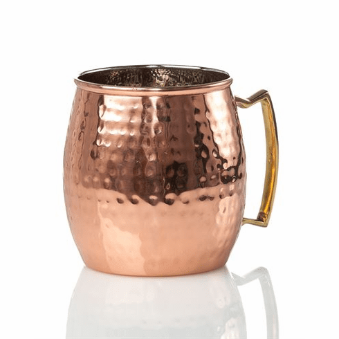 Abigails Element Copper Moscow Mule Hammered (Set of 4)