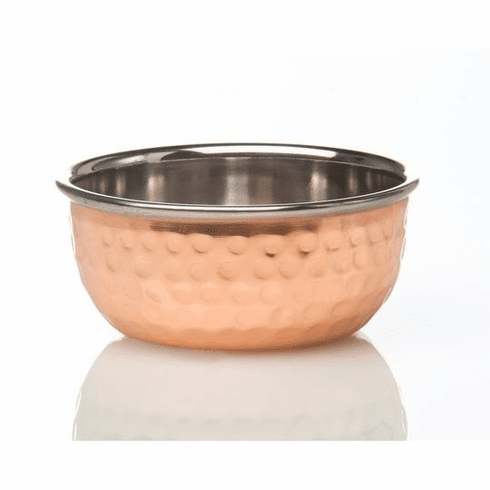 Abigails Element Copper Small Bowl Hammered (Set of 4)