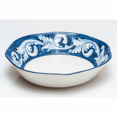 Abigails Elena Blue Ceramic Serving Bowl