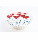 Abigails Fiori Serving Plate on Stand / Cake Plate Poppies