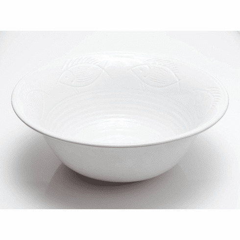 Abigails Fish Serving Bowl White