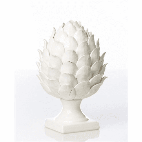 Abigails Gathered Garden White Artichoke Finial