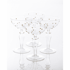 Abigails Gatsby Champagne Coupe with Gold Dots (Set of 4)