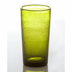 Abigails Glass Highball with Bubble Army Green (Set of 4)