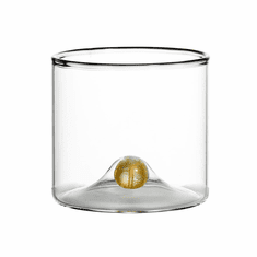 Abigails Golden Globe Glass DOF Clear with Gold Ball (Set of 4)