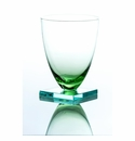 Abigails Green Stemless Wine with Square Base (Set of 4)