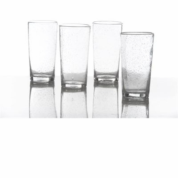 Abigails Hi Ball with Bubbles Clear (Set of 4)