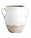Abigails Naturale Two Handled White/Natural Planter