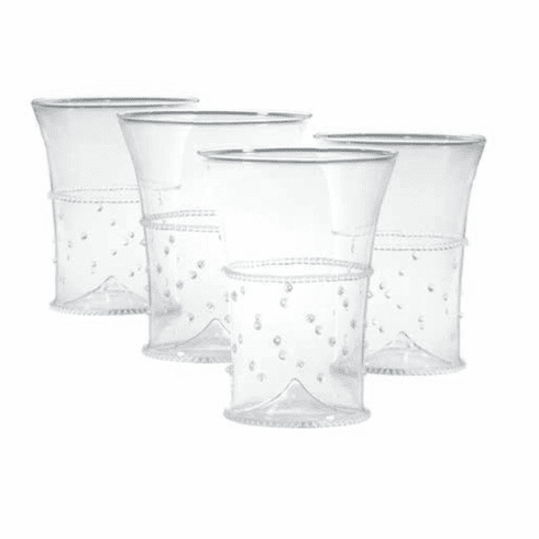 Abigails La Boheme Tumbler with Dots (Set of 4)