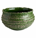 Abigails Large Centerpiece Bowl Feather Green/Gray
