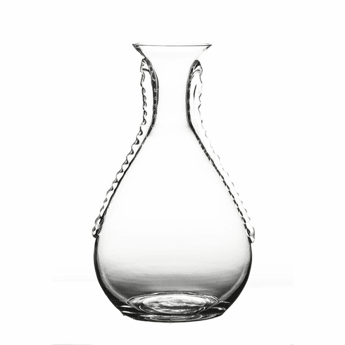 Abigails Maui Ripple Clear Glass Vase with Ribbons