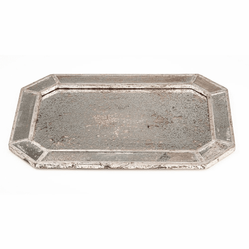 Abigails Mirrored Tray with Silver Finish
