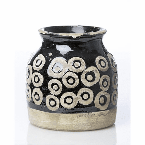 Abigails Moroccan Style Vase with Circles