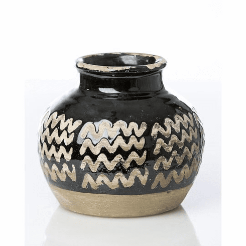 Abigails Moroccan Style Vase with Zig Zag