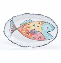 Abigails Napoli Oval Red Fish Platter