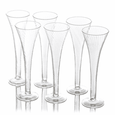 Abigails Optic Champagne Flutes (Set of 6)