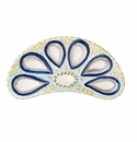 Abigails Oyster Plate Half Round Blue (Set of 2)
