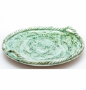Abigails Pamplona Round Green Platter with Rope