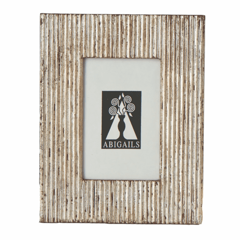 Abigails Picture Frame Carved Wood Silver Finish
