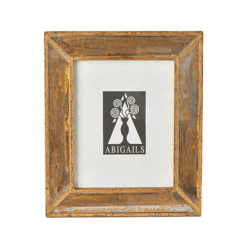 Abigails Picture Frame Large Wood with Antiqued Mirror