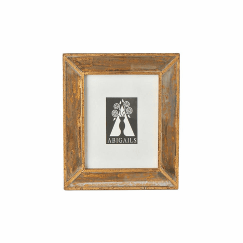 Abigails Picture Frame Small Wood with Antiqued Mirror