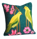 Abigails Pillow Crewel 2 Bird Yellow