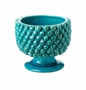 Abigails Pinecone Planter Turquoise Small